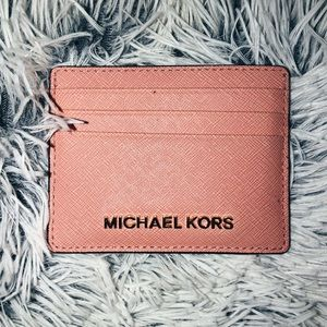 Pink/Peach Michael Kors Card Holder